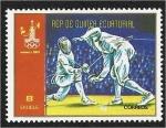 Stamps : Africa : Equatorial_Guinea :  Juegos Olímpicos de Verano de 1980 - Moscú. Esgrima