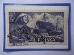 de Europa - Polonia -  Marina Mercante Polaca- St. Lukaszewsky (1956)- Barcos De Carga y Pesqueros.