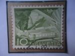 de Europa - Suiza -  Ferrocarril en la montaña de Rocher de Navy (Alpes Suizo)- Paisaje.