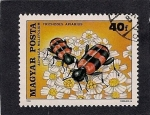Stamps Hungary -  Abeja