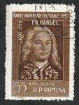 Stamps : Europe : Romania :  1622 - Friedrich Handel, músico alemán