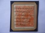 Stamps Oceania - Australia -  King George V- Sello año 1920 de 2d-Penique australiano.