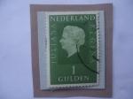 Stamps Europe - Netherlands -  Paises Bajos-Queen Juliana (1909-2004)-Serie_1969/72- Sello de 1 Florín holandés.
