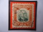 Stamps : America : Brazil :  Alfonso Augusto Moreira Pena (1847-1909)- 6°Presidente del Brasil (1906-1909)- Sello oficial, de 20