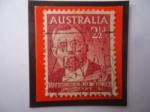 Stamps : Oceania : Australia :  Sir John Forrest(1847-1918)- Primer ministro de Australia (1890)