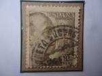 Stamps : Europe : Spain :  Ed:Es 932- Generalísimo Francisco Franco- Busto a la Derecha -Escudo de Armas- (1)- Sello de 2 Ptas