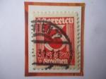 Stamps : Europe : Austria :  Números - Serie:1925-1927- Sello de 2 Groschen Austriacos, año 1925