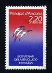 Sellos de Europa - Andorra -  bicentenari revolución francesa