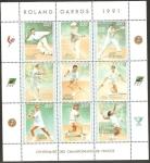 Sellos del Mundo : Africa : Costa_de_Marfil : Tenistas en el Torneo de Roland Garros