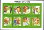 Stamps America - Saint Vincent and the Grenadines -  1318 a 1325 - Famosos deportistas de golf