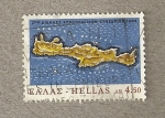 Stamps Europe - Greece -  Mapa de Creta