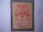 Stamps : America : Venezuela :  Valencia del Rey - Cuatricentenario 11555-1955 - Escudo de Armas.
