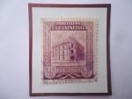 Stamps : America : Venezuela :  Oficina Principal de Correos Caracas Sello de 45 Céntimos, año 1953