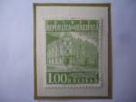 Stamps : America : Venezuela :  Oficina Principal de Correos Caracas- Sello de 1,00 Bolívar, año 1958