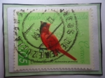 Stamps : America : Venezuela :  Cardenal Coriano (Richmondena phoenicea)