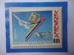 Sellos del Mundo : America : Venezuela : AñoJubilar de la Aviación Venezolana - 50 Aniversario 1920-1970 Emblema.