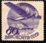 Stamps Russia -  10 Aniversario Correo Aereo