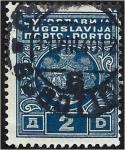 Stamps : Europe : Yugoslavia :  Escudo de armas, franqueo vencido - Grandes armas del reino