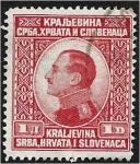 Stamps : Europe : Serbia :  Emisión para todo el Reino, el rey Alejandro
