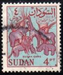Sellos del Mundo : Africa : Sudán : Animales