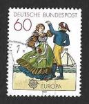 Sellos del Mundo : Europa : Alemania : 1350 - Trajes Típicos (EUROPA CEPT)