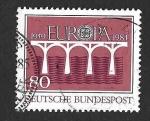 Sellos del Mundo : Europa : Alemania : 1416 - XXV Aniversario de EUROPA
