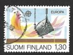 Sellos del Mundo : Europa : Finlandia : 679 - Fundición Flash (EUROPA CEPT)