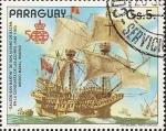 Stamps : America : Paraguay :  Barcos Antiguos de la Armada Española