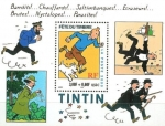 Stamps France -  Tintin