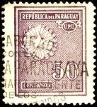 Sellos de America - Paraguay -  Estrella de cinco puntas, palma y olivo del escudo.
