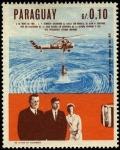 Stamps Paraguay -  Centenario de la epopeya nacional de 1864 - 1870. John y Jackeline KENNEDY, Lyndon JOHNSON, siguiend