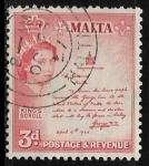 Sellos del Mundo : Europa : Malta : Centenario sello 1860