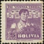 Sellos del Mundo : America : Bolivia : Tasa obligatoria pro vivienda obrera.