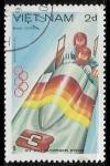 Sellos del Mundo : Asia : Vietnam : Juegos Olimpic - Sarajevoos de Invierno 1984