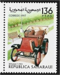 Stamps : Africa : Morocco :  Carros, Renault 1901