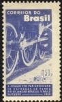 Stamps Brazil -  Décimo congreso Panamericano de Ferrocarriles.