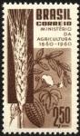 Stamps Brazil -  Ministerio de Agricultura de Brasil.