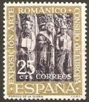 Stamps Spain -  1365 - VII Exposición Consejo de Europa, Pórtico de la Gloria de la Catedral de Santiago