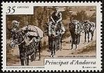 Stamps Europe - Andorra -  Historia Postal - correo de la Seo de Urgell a Andorra
