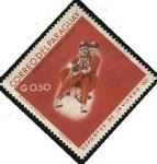 Stamps Paraguay -  Centenario de la epopeya nacional de 1864 - 1870. Deportes de invierno.
