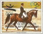 Sellos de America - Paraguay -  Atenas 100 años Juegos Olimpicos