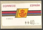 Stamps Europe - Spain -  ATMs - Serie básica, logotipo de Correos con marco fino
