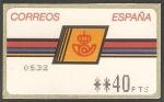 Stamps : Europe : Spain :  ATMs - Serie básica, logotipo de Correos con marco grueso