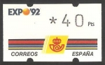 Stamps Spain -  ATMs - Expo Sevilla 92