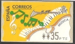 Stamps of the world : Spain :  ATMs - Música