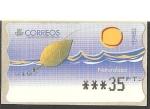 Sellos de Europa - España -  ATMs - Naturaleza