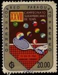 Stamps Paraguay -  28 campeonato sudamericano de tenis.