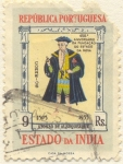 Stamps Asia - India -  450 Aniversário da fundaçâo do Estado da India