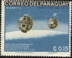 Stamps Paraguay -  Centenario de la Epopeya nacional de 1864 - 1870 . Satélites TELSTAR 1 y 2.