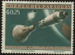 Sellos de America - Paraguay -  Proyecto 'GEMINI' su unión con 'AGENA' en el espacio.
